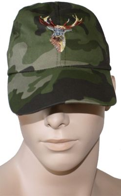 Textile Hunting Cap, Military Pattern Stitchery