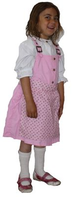Three Pieces Girl Dirndl Trachten Dress Girly,Color:Pink/White – image 3