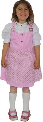 Three Pieces Girl Dirndl Trachten Dress Girly,Color:Pink/White – image 2