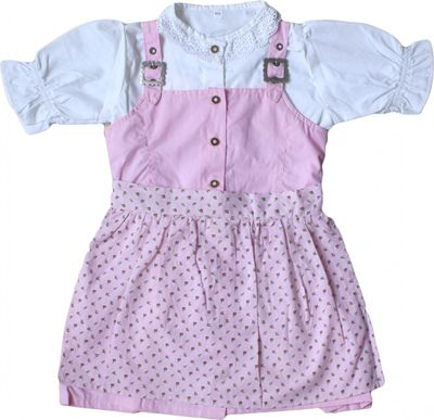 Three Pieces Girl Dirndl Trachten Dress Girly,Color:Pink/White – image 1