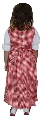 "Girl Dirndl Trachten Dress, Knee Long, Made of finest Cotton  <p class=""ptitle"">Colour: Purple/checkered</p>  <ul> 	<li>Cute bavarian dirndl dress for little girls</li> Girl Dirndl Trachten Dr – image 2"