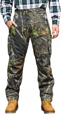 Long Hunting Trousers Textil Stitchery forest pattern