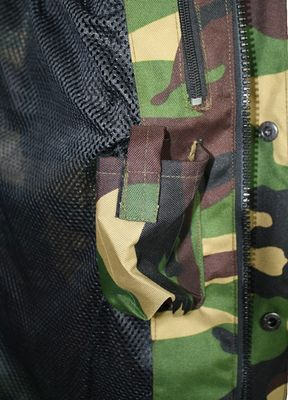 Hunting Jacket Textile Military Pattern Deer Stitchery – image 4