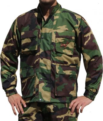 Hunting Jacket Textile Military Pattern Deer Stitchery