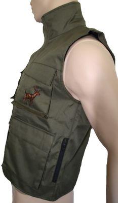 Textile Hunting Vest Stitchery