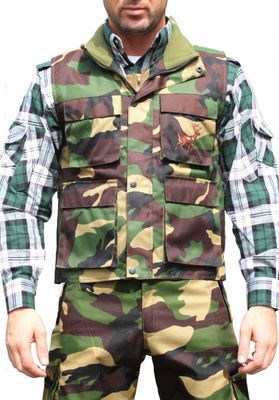 Textile Hunting Vest Stitchery, Military Pattern