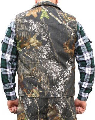 Textile Hunting Vest Stitchery Forest Pattern – image 2