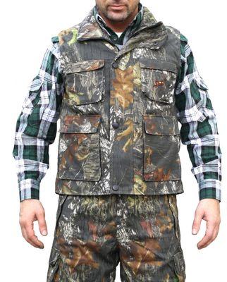 Textile Hunting Vest Stitchery Forest Pattern – image 1