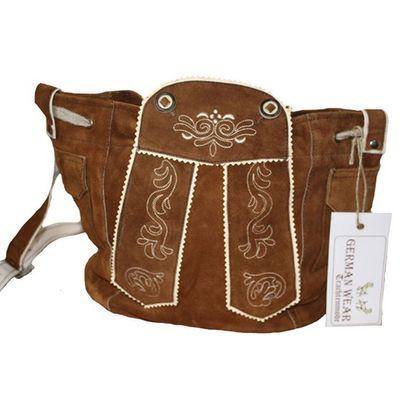 Damen Trachtentasche Dirndl Taschen Trachten ledertasche Kastanie – Bild 1