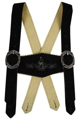 Boys Leather Suspenders, Classic Design,Color:Black – image 3