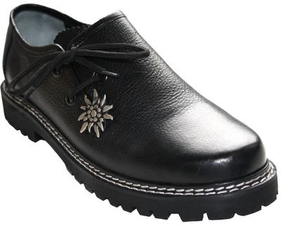 Bavarian traditional Shoes for Lederhosen / Haferl Shoes,leather Shoes,Color: Black – image 1