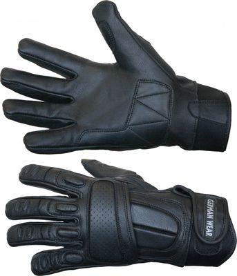 Motorbike Biker Leather Gloves Black – image 3