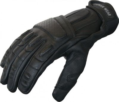 Motorbike Biker Leather Gloves Black – image 2