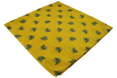 Trachten scarf ,scarf flower design, size:60x60cm,Color: Yellow – image 2