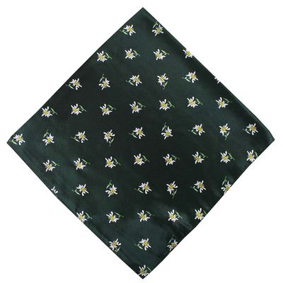 Trachten scarf ,scarf flower design, size:60x60cm,Color:Green – image 1