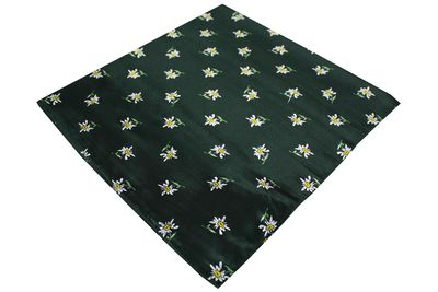Trachten scarf ,scarf flower design, size:60x60cm,Color:Green – image 2