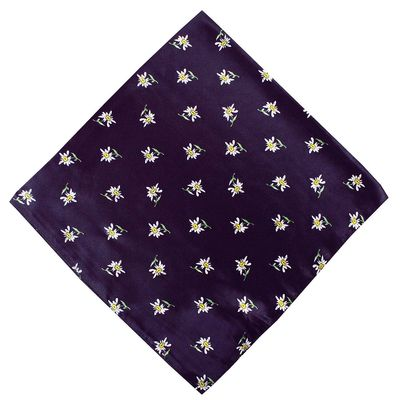Trachtentuch Halstuch 60x60 lila