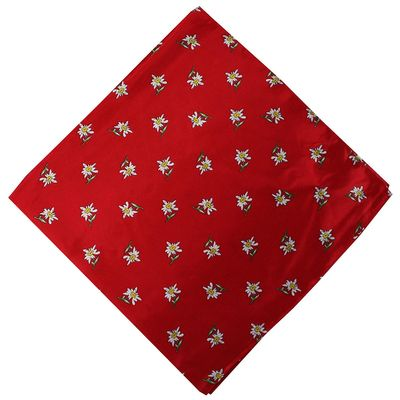 Trachten scarf ,scarf flower design, size:60x60cm,Color:Red – image 1