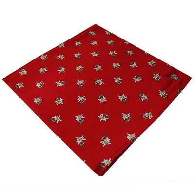 Trachten scarf ,scarf flower design, size:60x60cm,Color:Red – image 2
