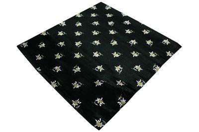 Trachten scarf ,scarf flower design, size:60x60cm,Color:Black – image 2