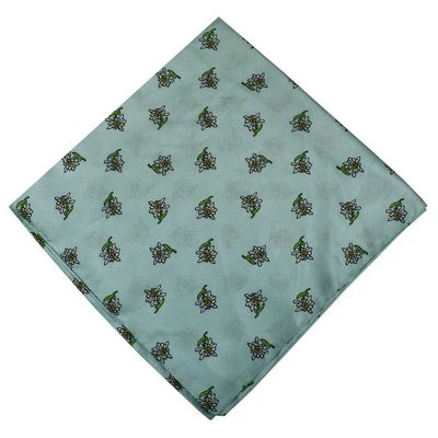 Trachten scarf ,scarf flower design, size:60x60cm,Color:Turquoise – image 1