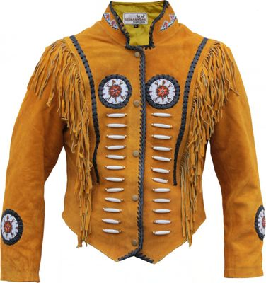 Western Leather Indian Western Carnival Fasching Jacket. – image 1
