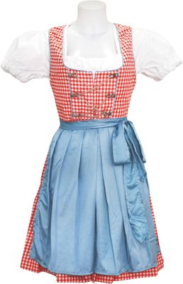 Three Pieces Midi-Dirndl Dress Set
