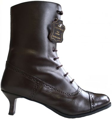 Trachten boots, glazed leather,Color: dark Brown – image 1