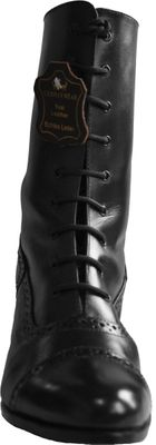 Trachtenboots glazed leather black