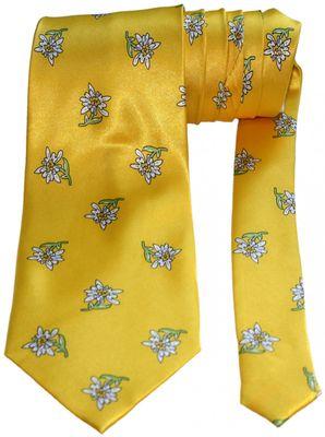 Bavarian Trachten-Tie Fasching-Tie Carneval Oktoberfest Edelweiß Tie,Color:Yellow