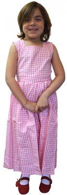 Mädchen Kinderdirndl rosa/weiß kariert