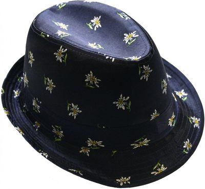 Trachtenhut dunkelblau Edelweiß