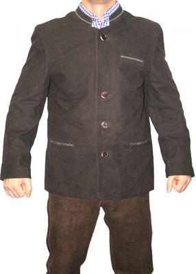 Trachtenjacke trachten lederjacke jacke Janker aus Ziegenleder braun – Bild 1