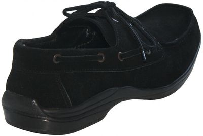 Low Shoes made of real Suede Leather,Color:Black – image 3