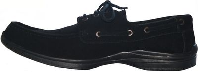 Low Shoes made of real Suede Leather,Color:Black – image 4