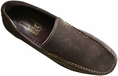Low Shoes made of real Suede Leather,Color:dark Brown – image 3