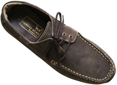 Low Shoes made of real Suede Leather,Color:dark Brown – image 5