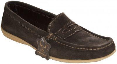 Low Shoes Mocassins Driving Shoes Suede Cowhide,Color:dark Brown – image 1