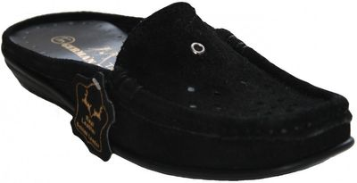 Driving Shoes Suede Cowhide black