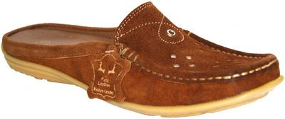 Driving Shoes Suede Cowhide chestnut brown