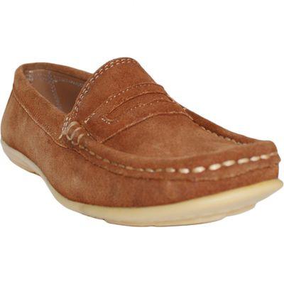 Low Shoes Mocassins Driving Shoes Suede Cowhide,Color;Chestnut Brown – image 9
