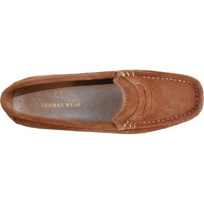 Low Shoes Mocassins Driving Shoes Suede Cowhide,Color;Chestnut Brown – image 3