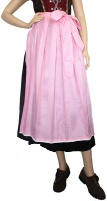 Long Dirndl Apron ,Dirndl Traditional Apron,Color:  Pink Checkered – image 1