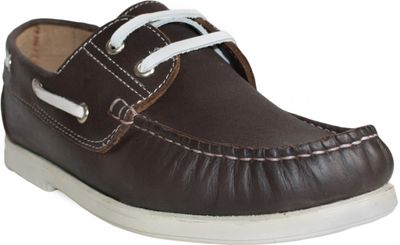 Boat Shoes made of real Cowhide,Color: Brown/White – image 5