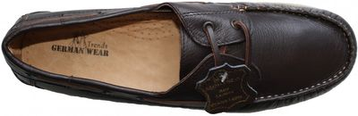 Boat Shoes made of real Cowhide,Color: dark Brown – image 2