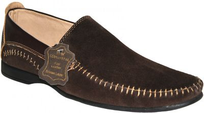 Low Shoes made of real Suede Leather,Color:dark Brown – image 1