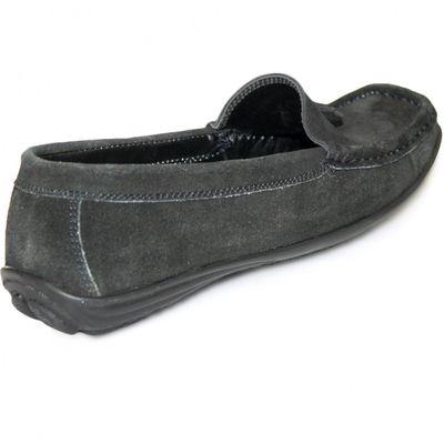 Low Shoes Mocassins Driving Shoes Suede Cowhide,Color:Black – image 6