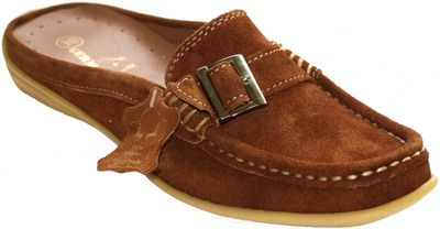 Driving Shoes Suede Cowhide chestnut