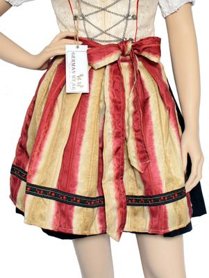 Dirndl Apron ,Dirndl Traditional Apron,Color: Red/Yellow