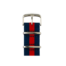 Apple Watch band NATO nylon dark blue/red | Roobaya